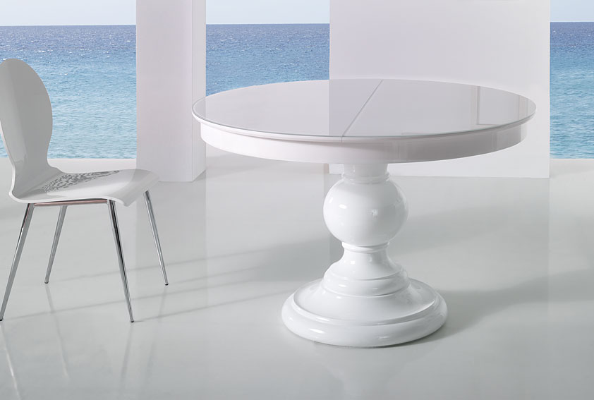 Mesa de comedor extensible moderna mamen en cosas de for Mesa extensible moderna