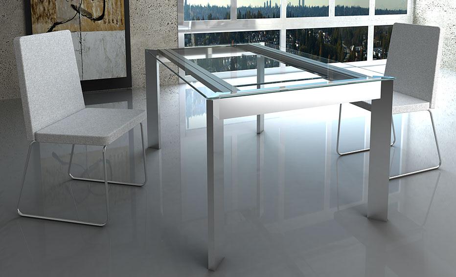 Mesa comedor extensible moderna marina en - Muebles de chapa metalica ...