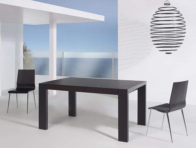 Mesa de comedor extensible moderna oscar de lujo en - Mesas de comedor modernas extensibles ...