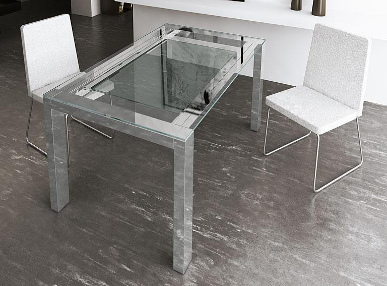 Mesa de comedor extensible moderna susan en for Mesa comedor extensible moderna