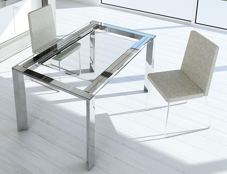 Mesa de comedor extensible moderna tama en cosas de - Mesas comedor extensibles modernas ...