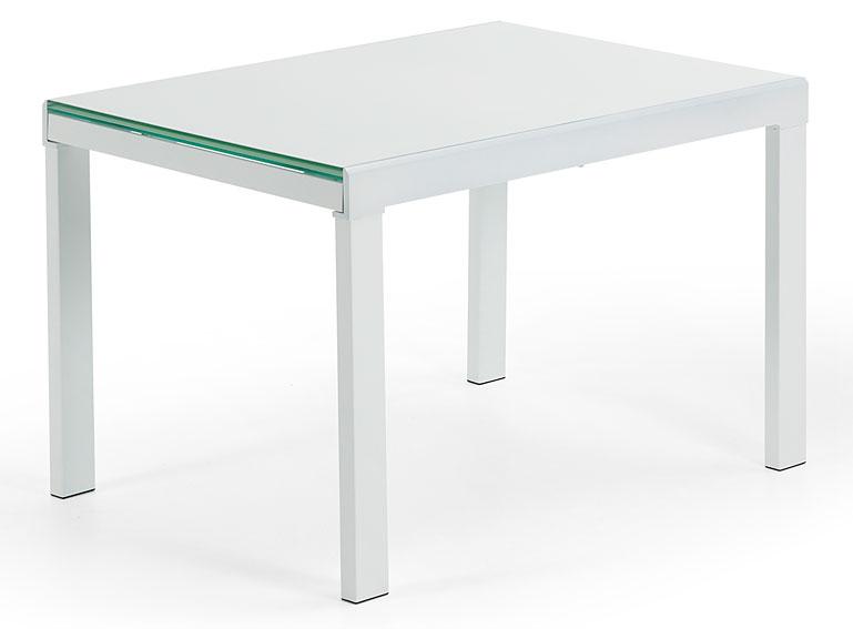Mesa de comedor extensible blanca moderna abama no for Mesa extensible moderna