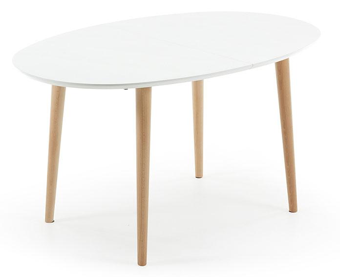 mesa comedor ovalada blanca moderna oqui portobellostreet