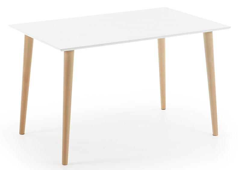 Mesa de comedor rectangular blanca moderna oqui no for Mesa comedor blanca