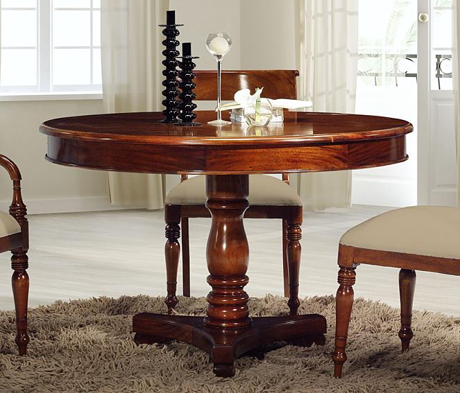 Mesa de comedor redonda cl sica murandi en - Comedores mesa redonda ...