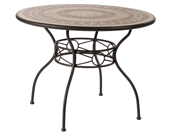 Mesa de comedor redonda de jard n karola no disponible en for Muebles de jardin mesas