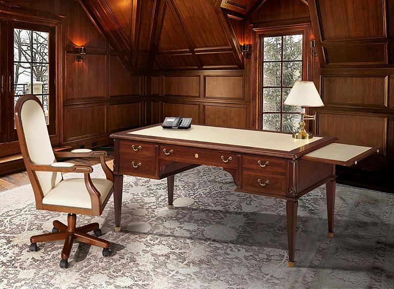 Mesa de escritorio cl sica ostende en for Mesas de despacho