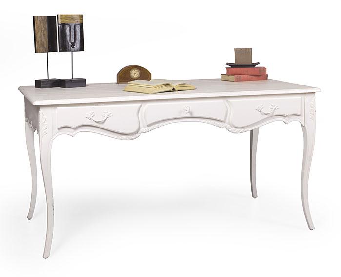 Mesa de escritorio 3 cajones provenzal le blanc no - Escritorio vintage ...