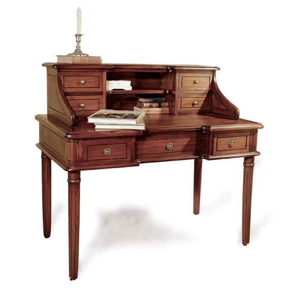 Mesa de escritorio 7 cajones cl sica clity no disponible - Mesa escritorio clasica ...