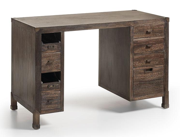 Muebles cosas de arquitectos mesa de escritorio 8 cajones - Mesa escritorio con cajones ...