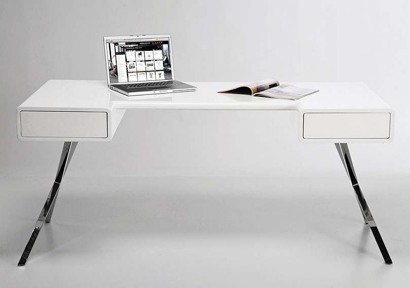 Mesa de escritorio moderna insider en cosas de for Muebles escritorio diseno