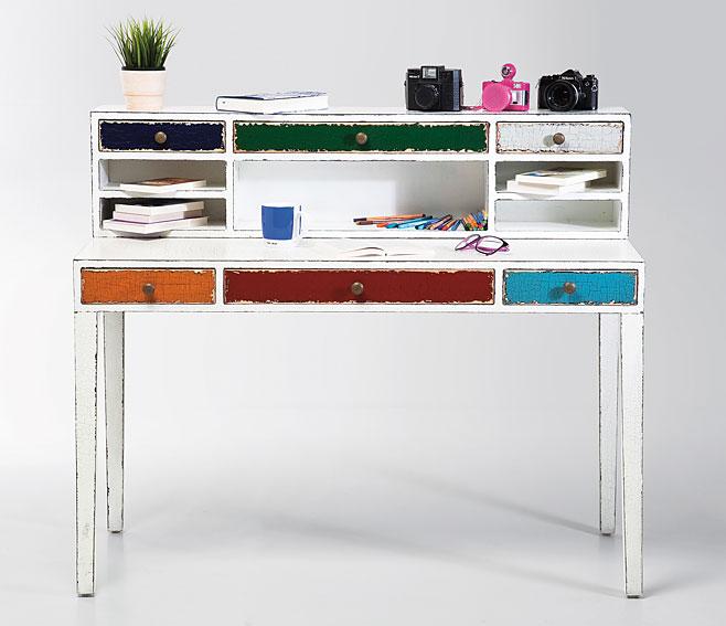 Mesa de escritorio blanca vintage arlequ n no disponible - Escritorio vintage ...