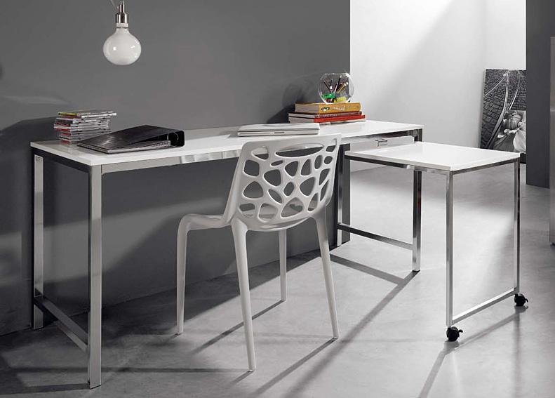 Mesa de escritorio blanca malmo no disponible en for Mesa escritorio cristal