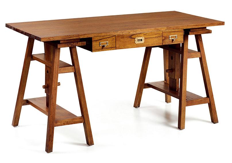 Mesa de escritorio 3 cajones colonial Star