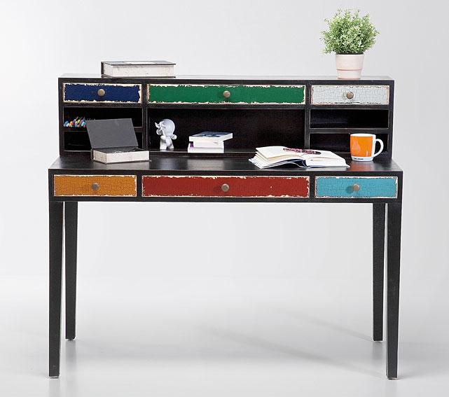 Mesa de escritorio negra vintage arlequ n no disponible en for Muebles para escritorio