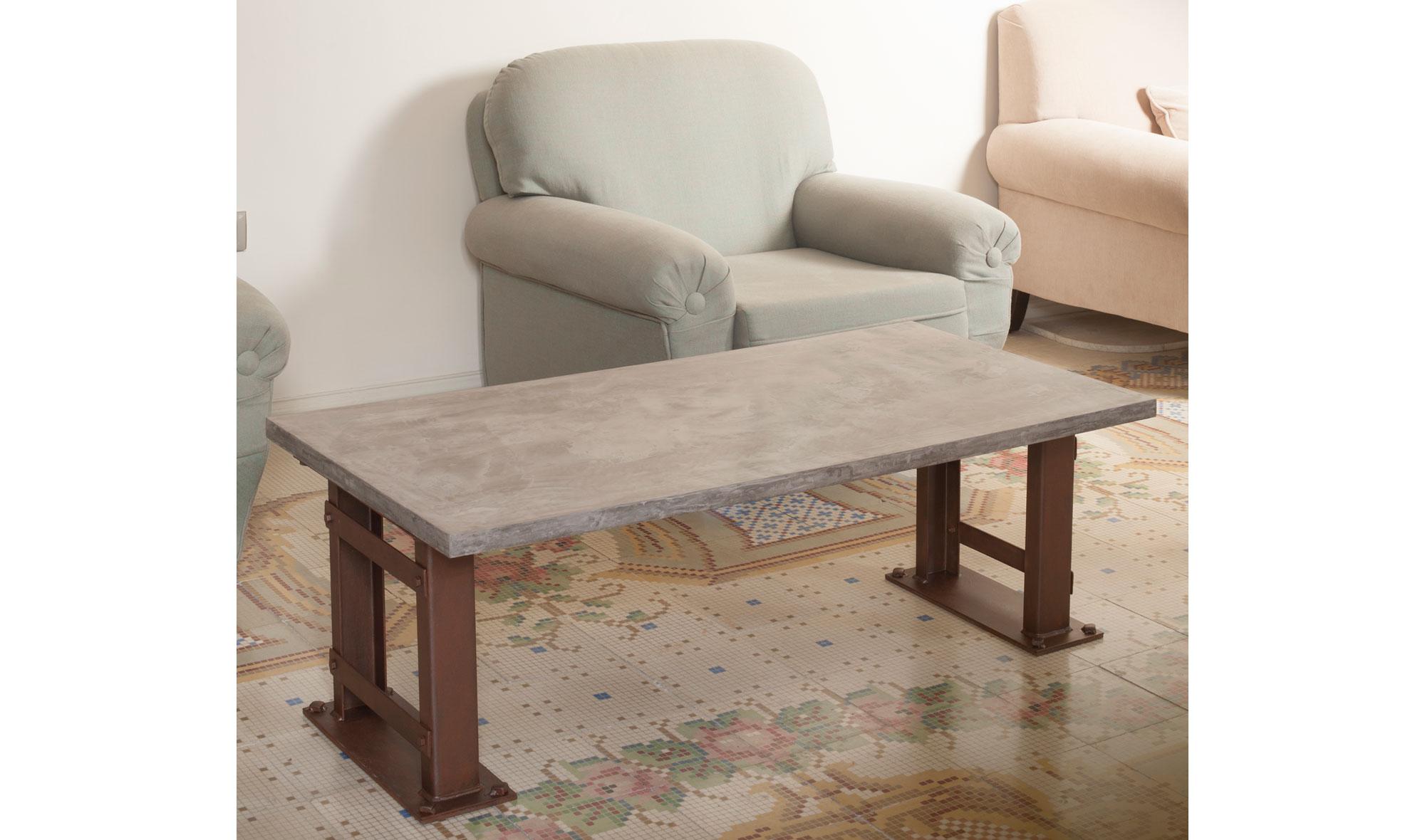 Mesa de centro microcemento londres de lujo en for Muebles de lujo