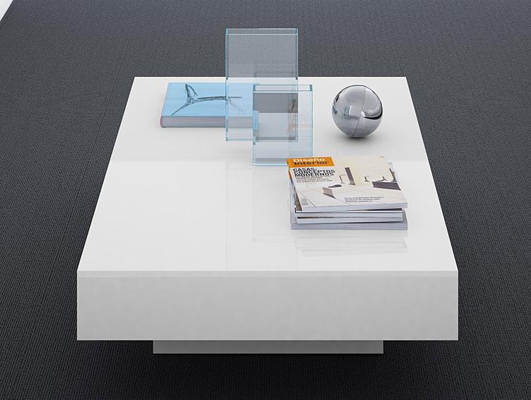 Mesa de centro blanca moderna kioto lig defectos no - Mesa centro blanca ...