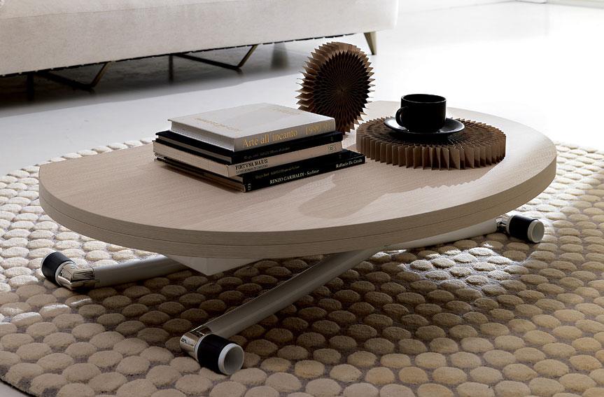 Mesa convertible a comedor moderna apple en - Mesas centro elevables y extensibles ...