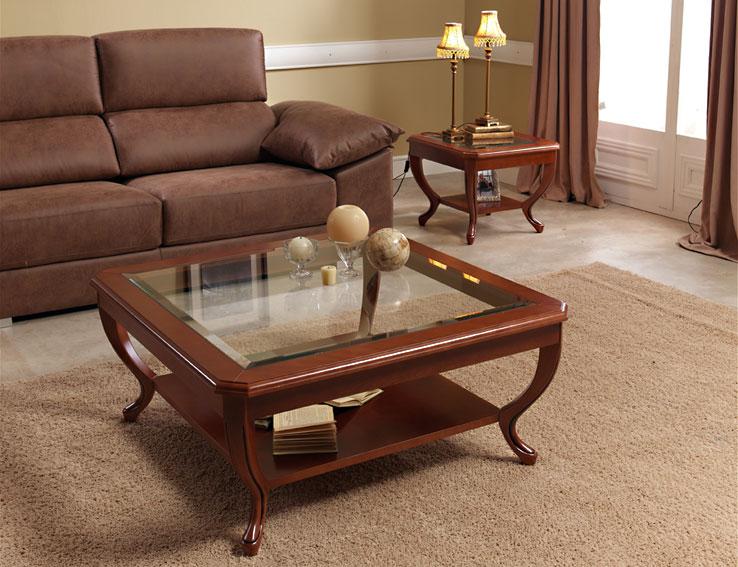 Mesa de centro cuadrada cl sica alina en tu tienda de for Muebles de centro
