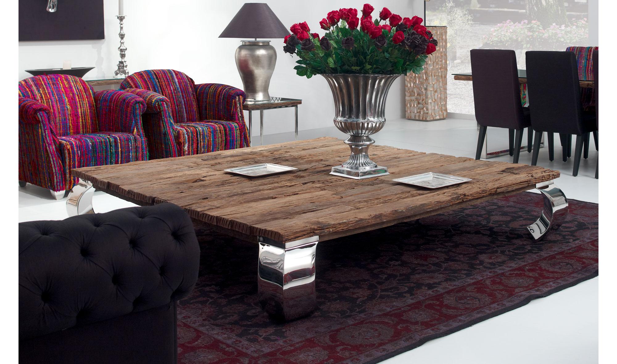 Mesa de centro cuadrada moderna seducti de lujo en - Portobello street muebles ...