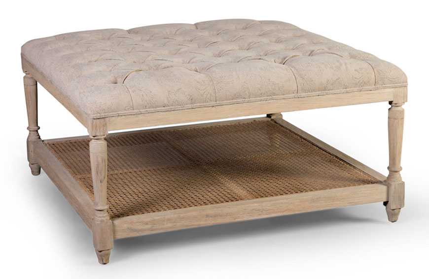 Mesa de centro cuadrada vintage artisan en for Artisan muebles