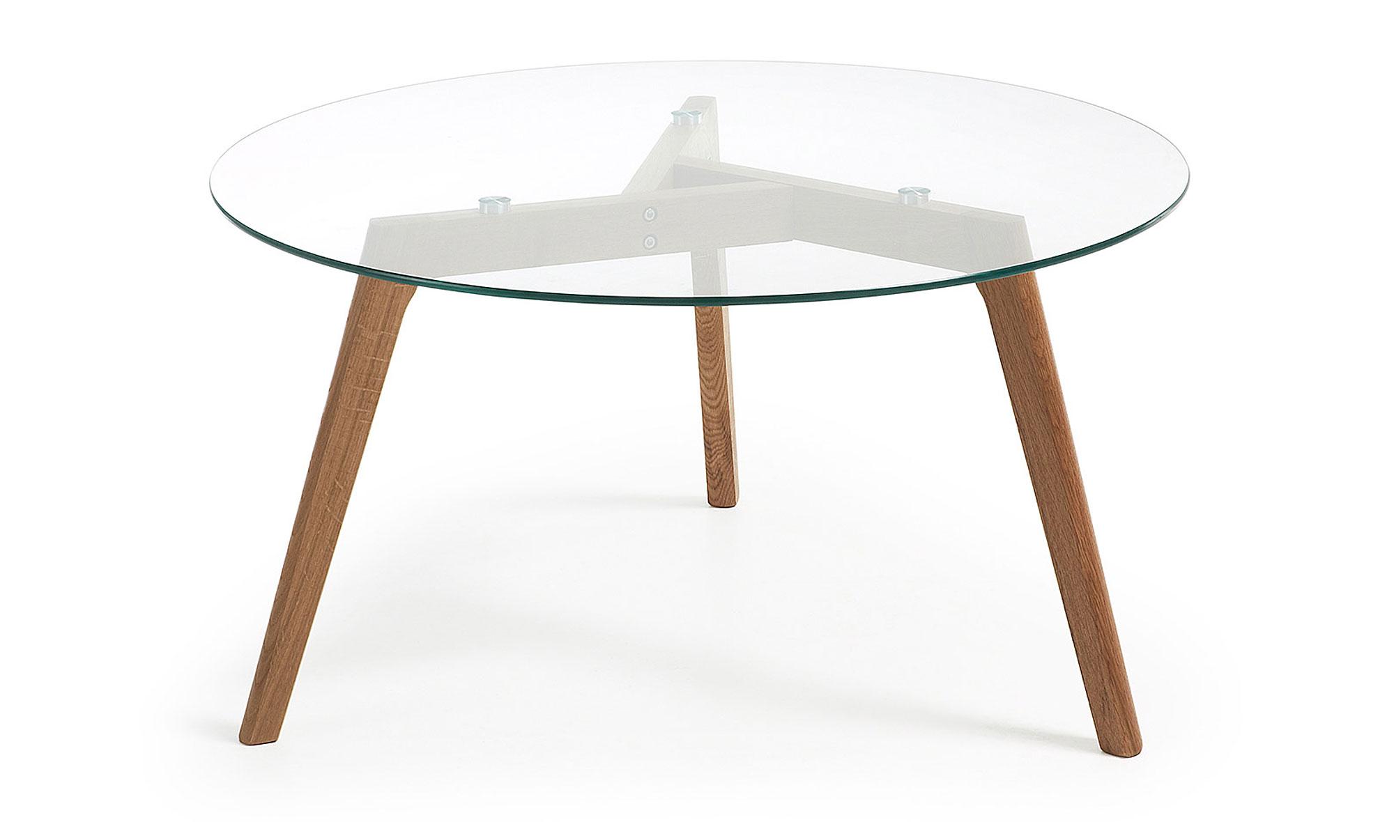Mesa de centro de cristal meety en cosas de for Centro de mesa de cristal