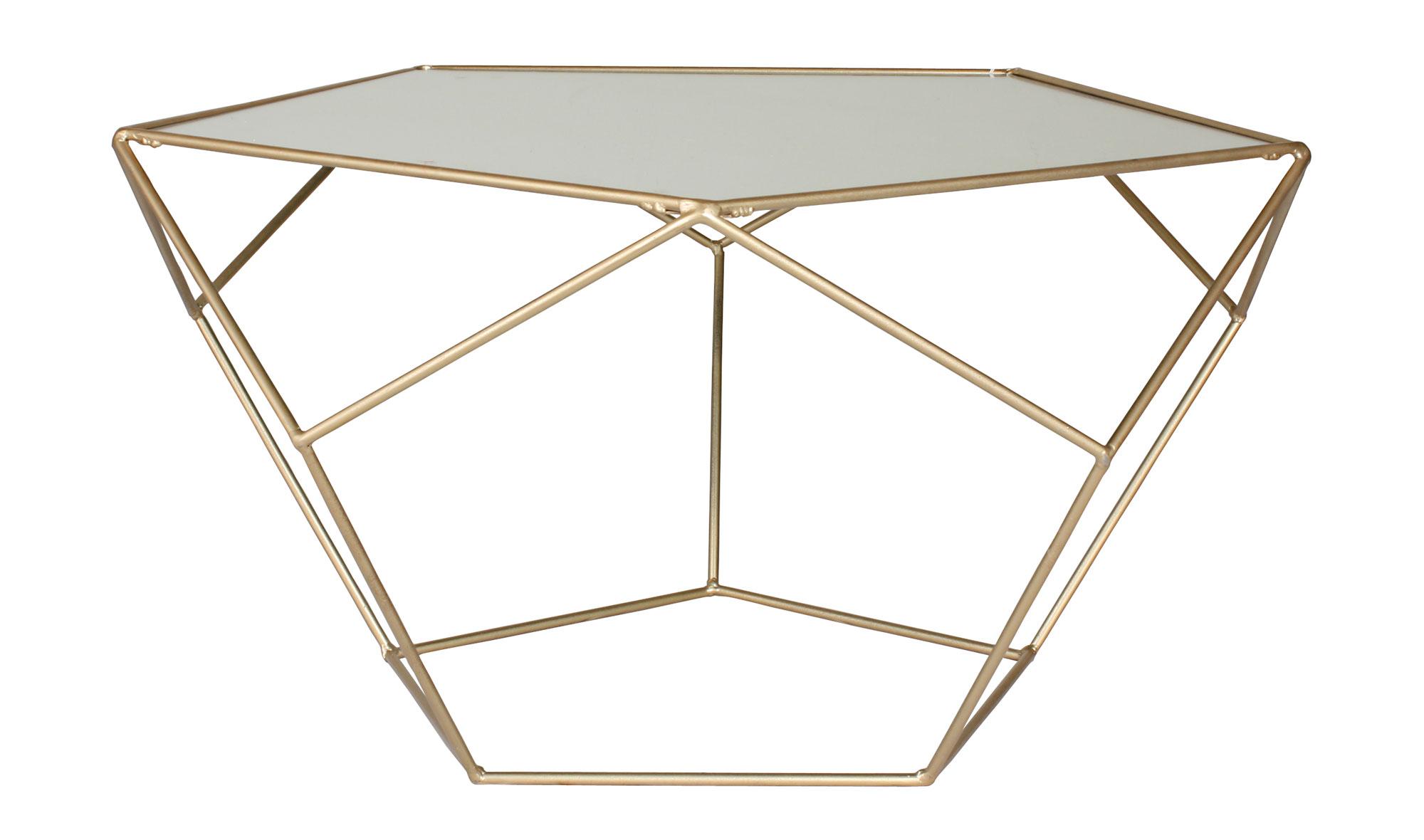 Mesa de centro dorada moderna dodecaedro en - Mesa auxiliar dorada ...