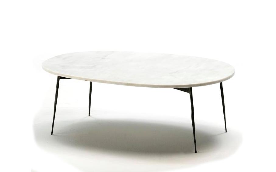 Mesa de centro m rmol blanco oval no disponible en - Productos para limpiar el marmol blanco ...