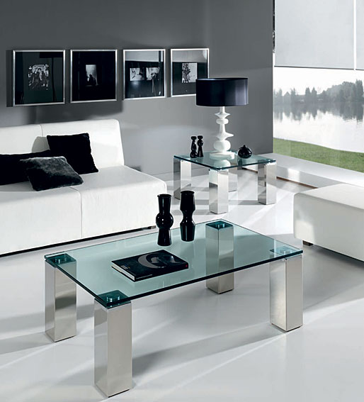 Mesa de centro y cristal visi n en cosas de for Mesas de salon de cristal