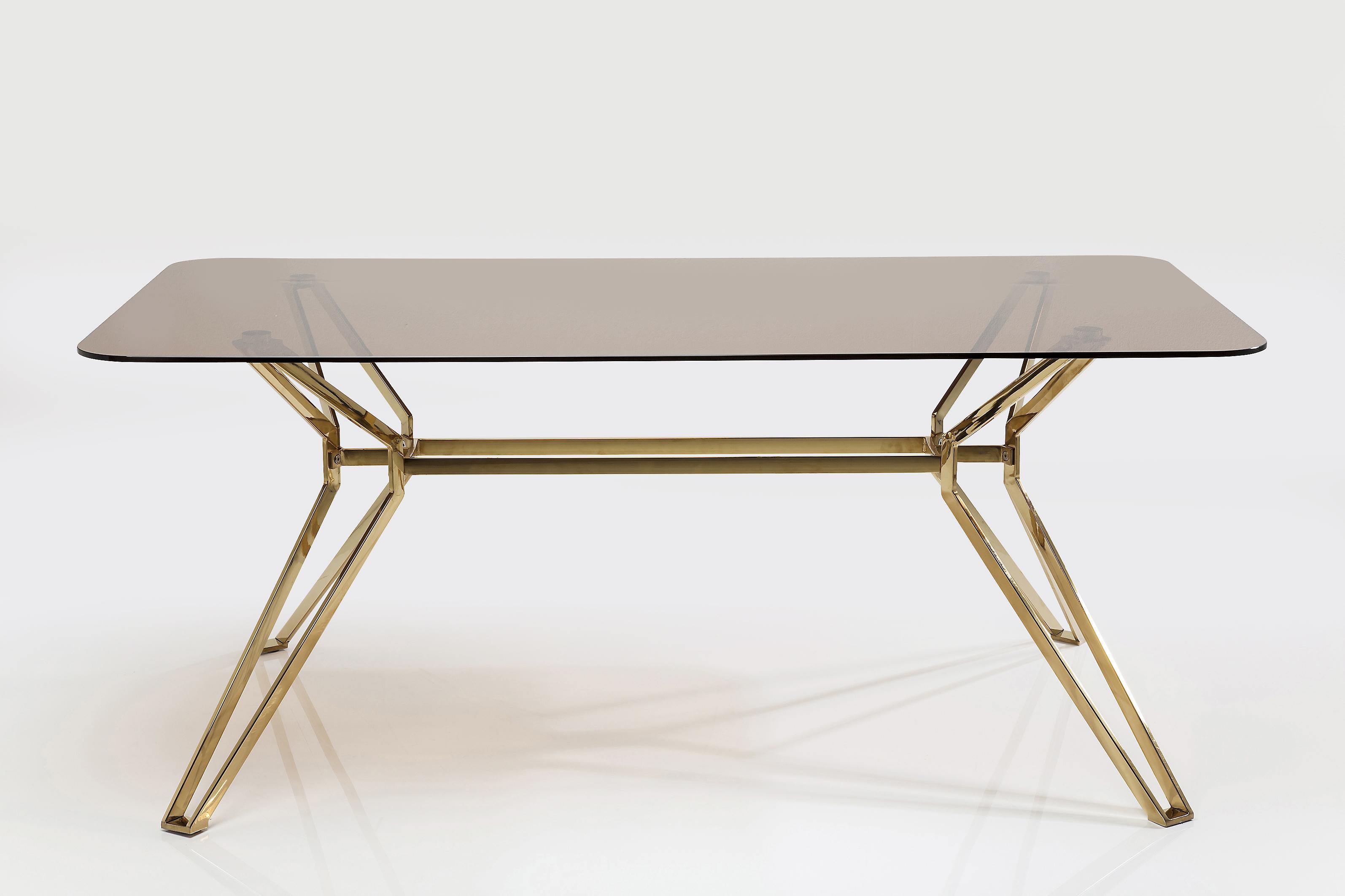 Mesa de comedor garbo dorado en - Ver muebles de comedor ...