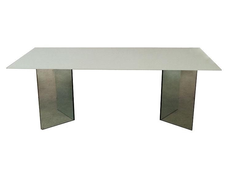 Mesa de comedor blanca gema lig defectos no disponible en for Muebles gema zaragoza