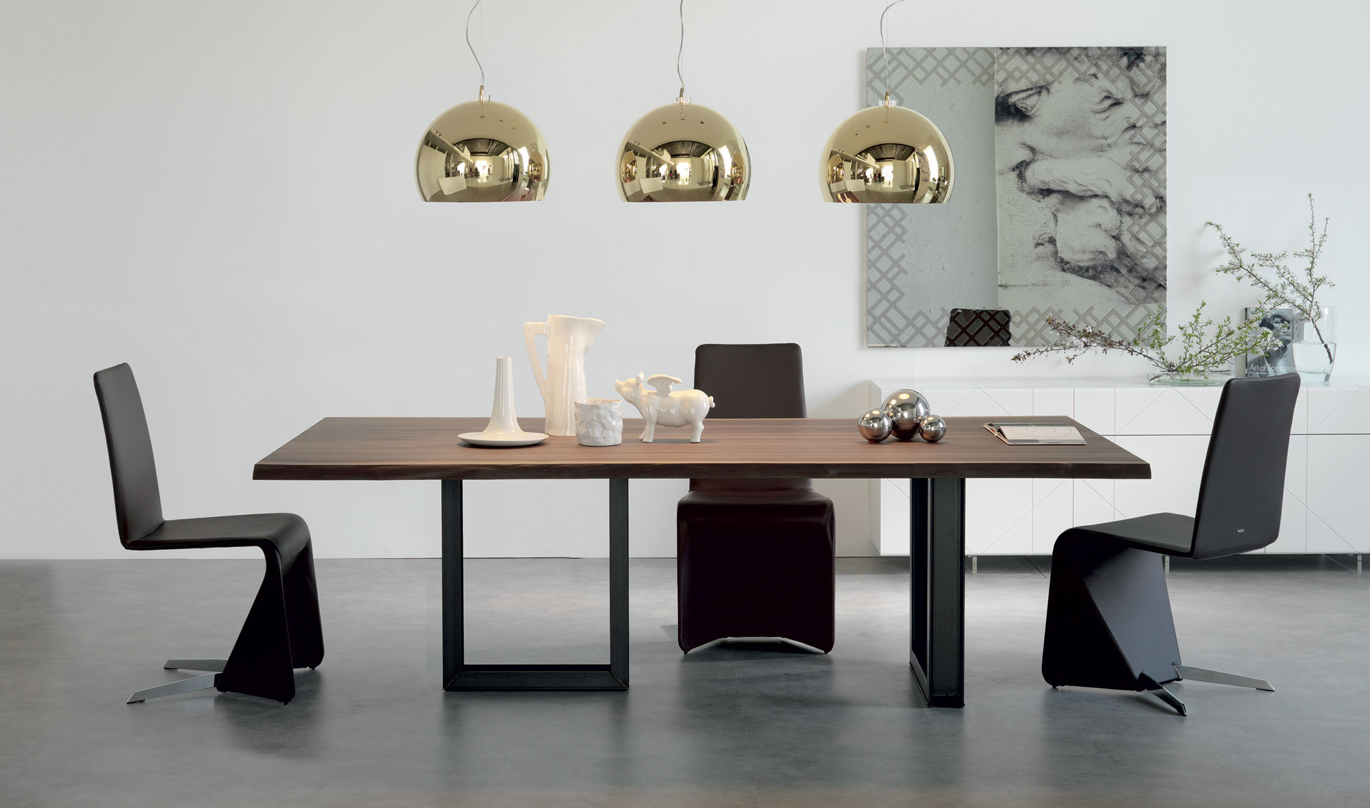 Mesa de comedor sigma cattelan en for Sillas salon modernas