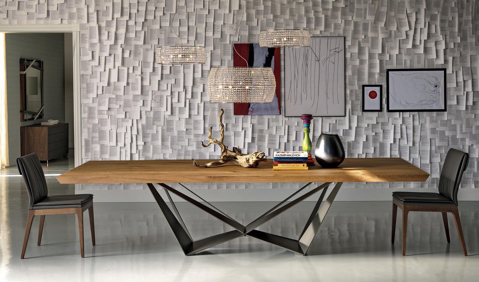 Mesa de comedor madera Skorpio Cattelan de lujo en ...