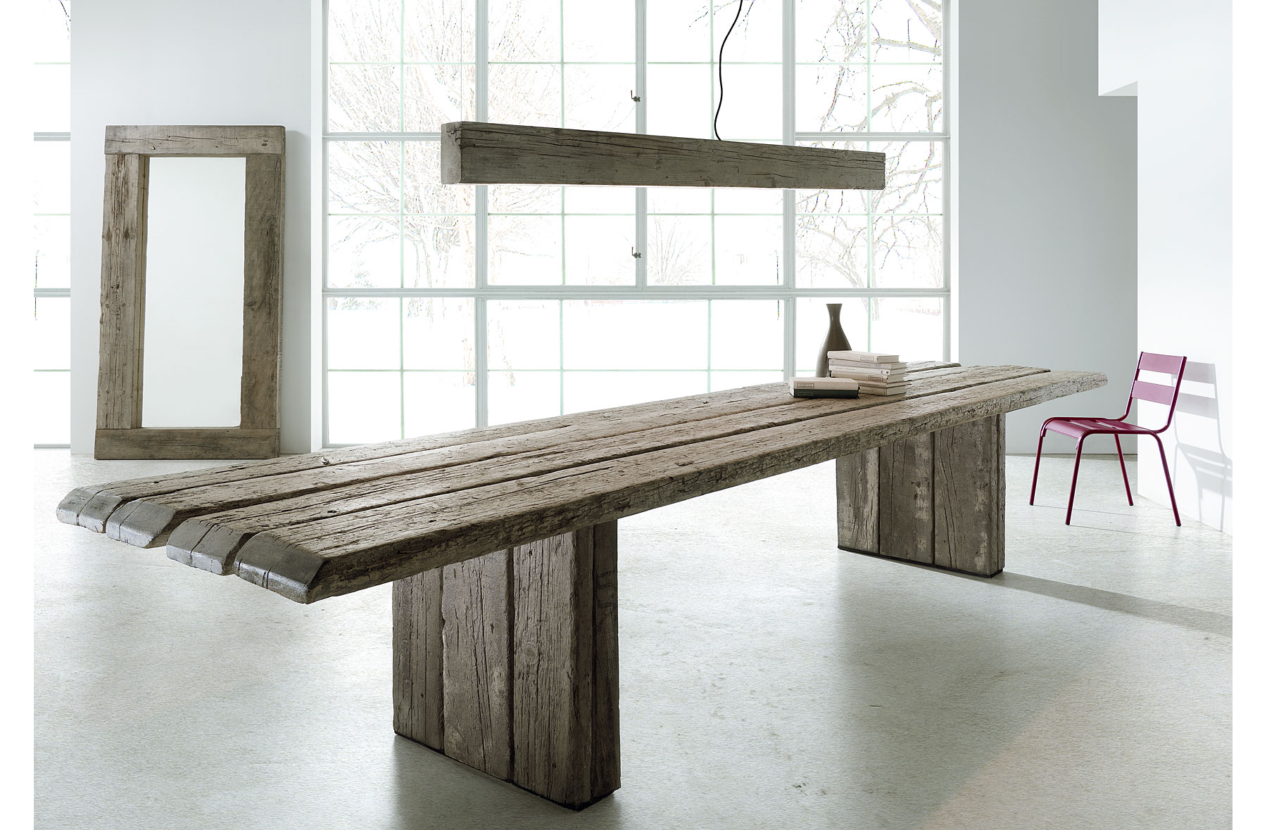Mesa de comedor Oregón madera centenaria en Portobellostreet.es