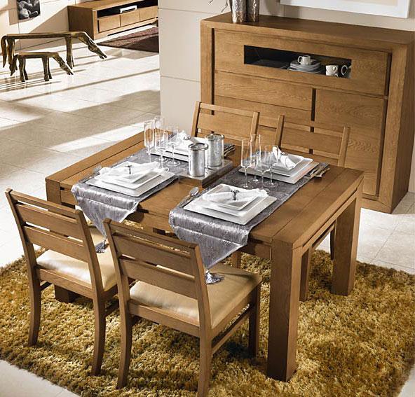 Mesa de comedor roble dubrovnik no disponible en for Muebles de comedor mesas