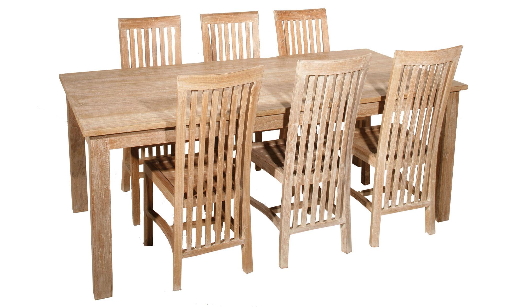 Mesa de comedor colonial madera lavada no disponible en for Muebles comedor madera