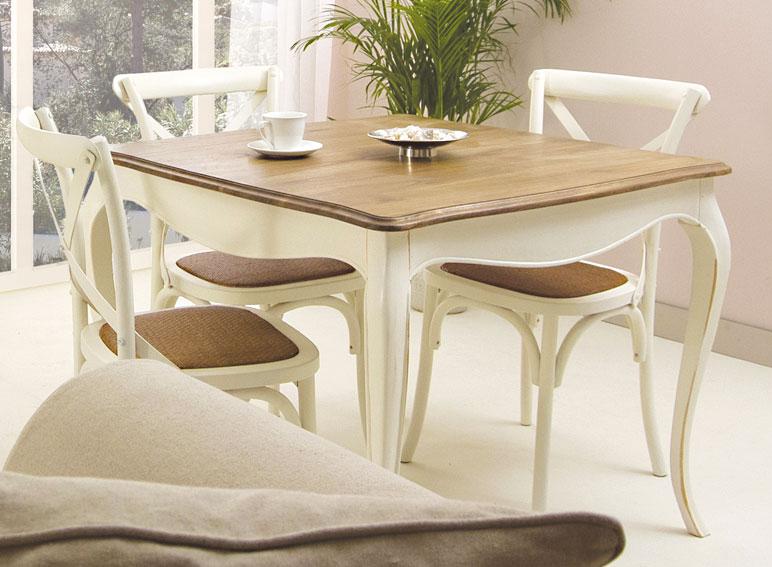 Mesa de comedor cuadrada vintage par s en - Mesa cocina vintage ...