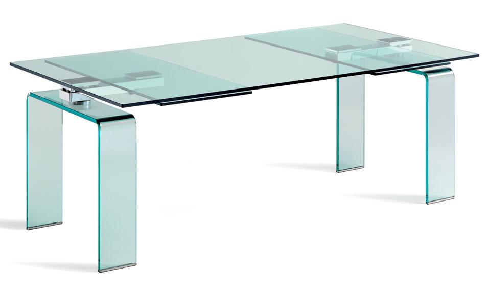Mesa de comedor extensible moderna azimut de lujo en for Mesa extensible moderna