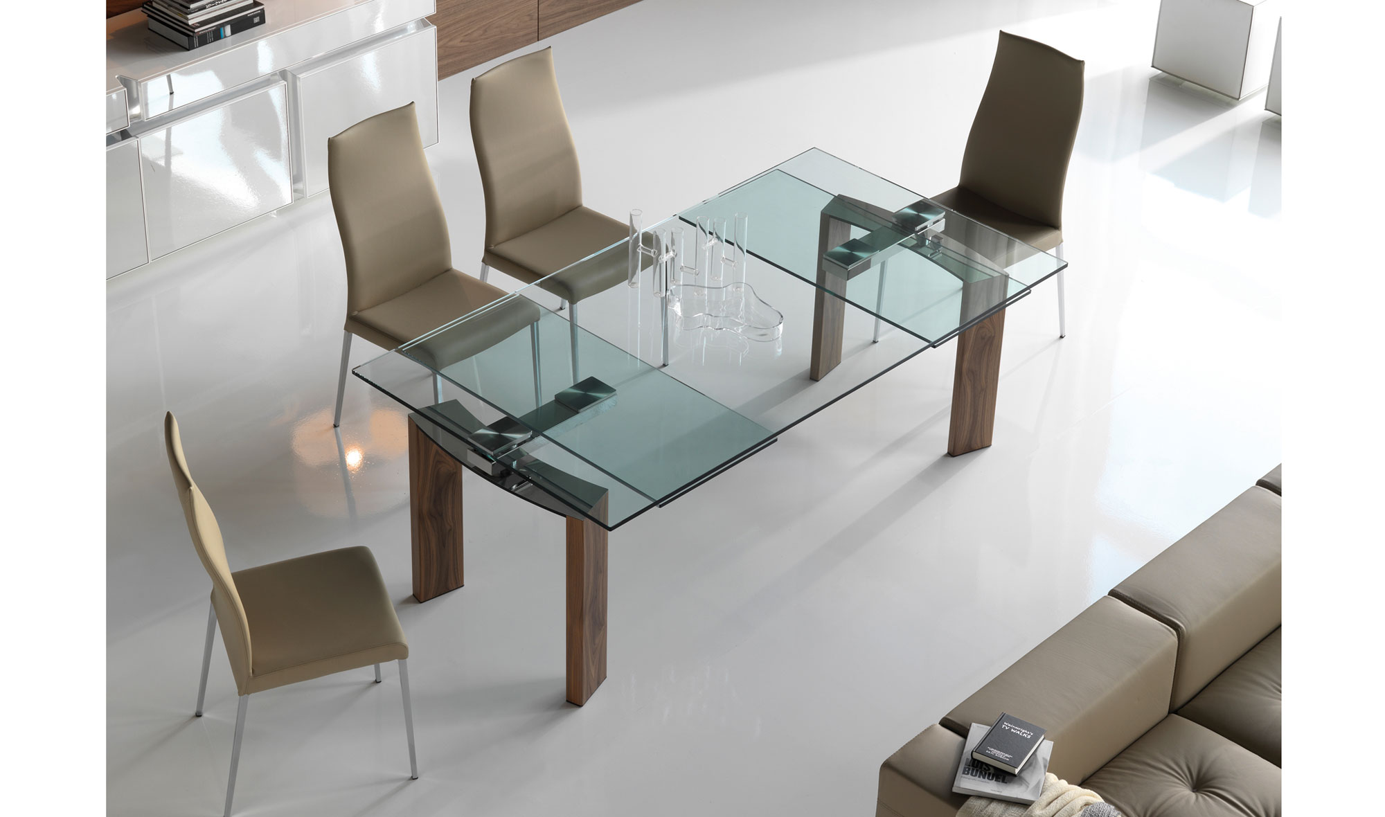 Mesa de comedor extensible moderna daytona cattelan en for Mesas extensibles salon