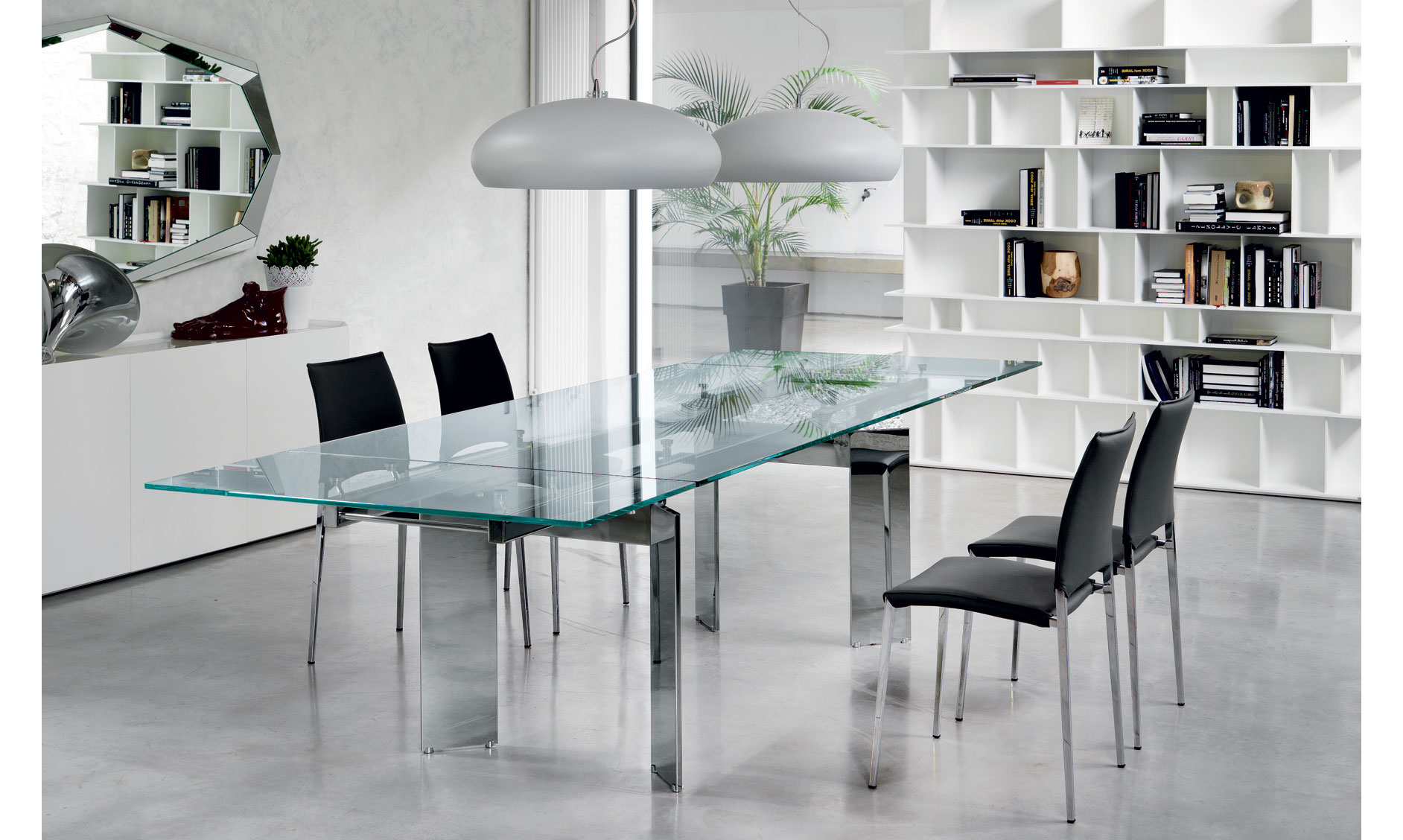 Mesa de comedor extensible elan cattelan de lujo en for Tu muebles catalogo