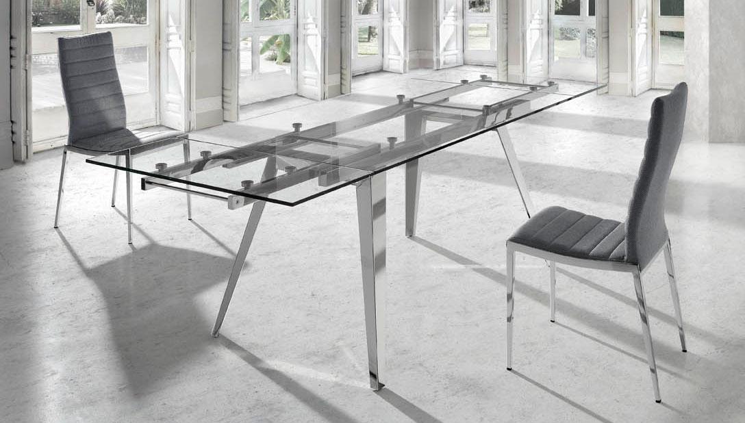 Mesa comedor cristal extensible Moderna Samson