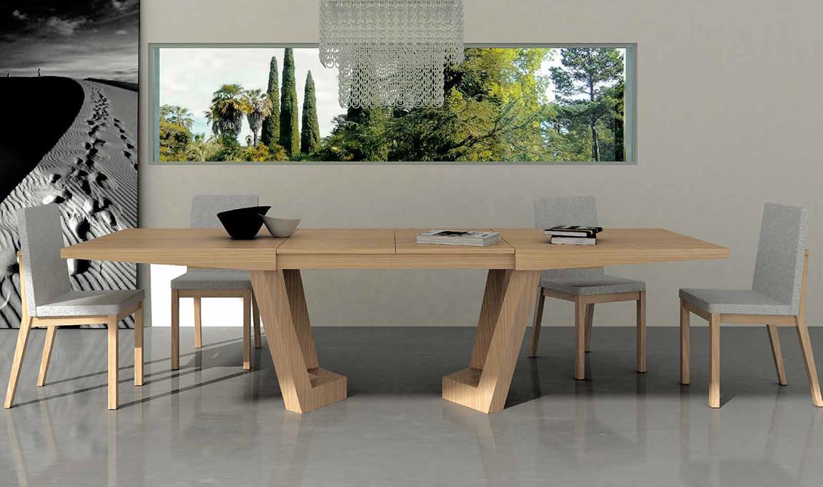 Mesa de comedor extensible olimpia en for Mesas y sillas para salon comedor