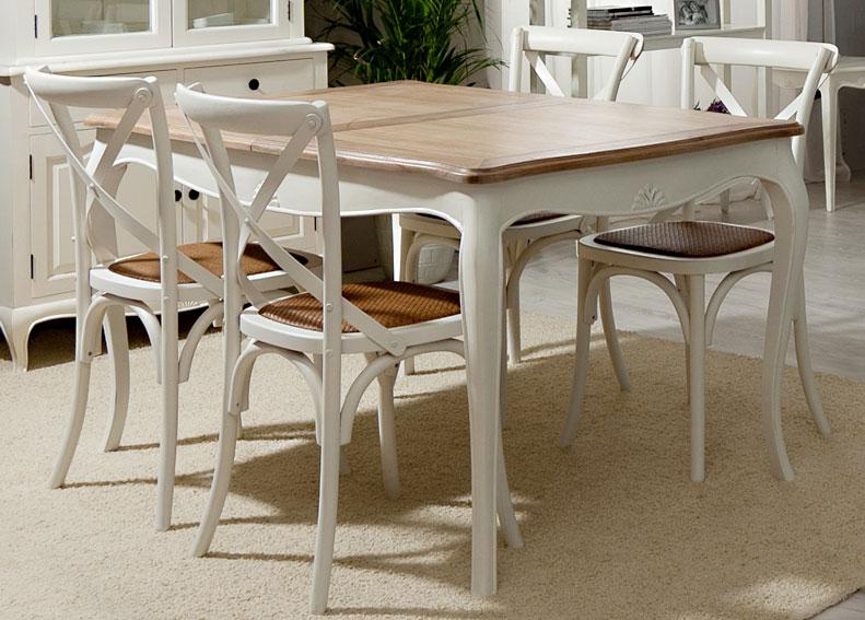 Mesa de comedor extensible vintage par s en for Muebles de comedor mesas
