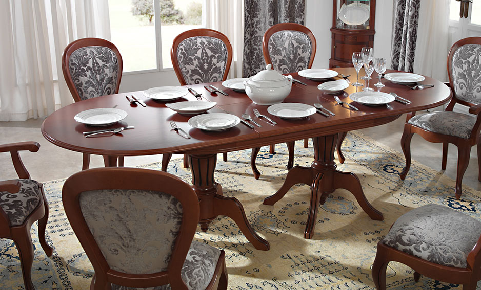 Mesa comedor extensible cl sica loreta en - Segunda mano muebles de comedor ...