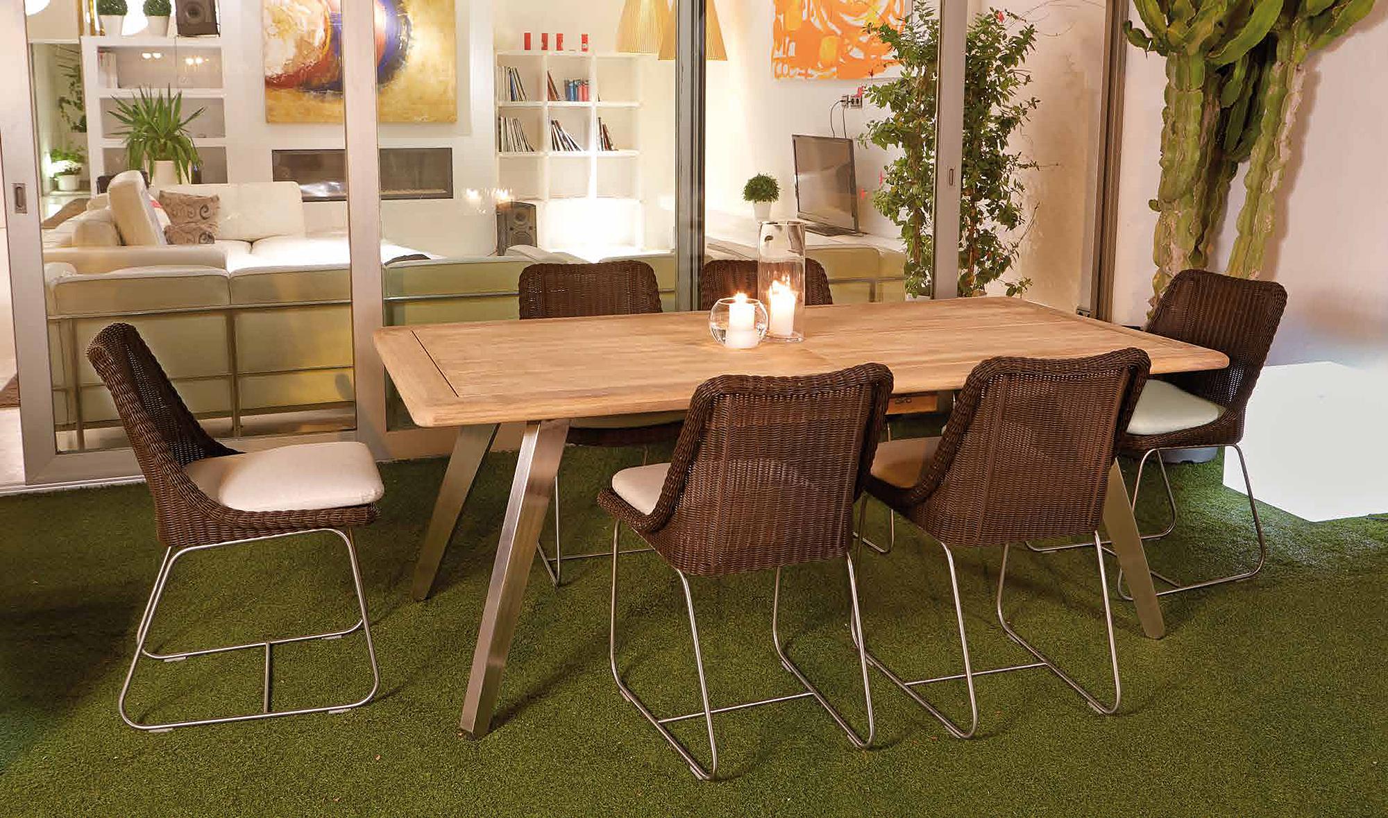 Mesa De Comedor Extensible Jard N Fleur En Portobellostreet Es # Muebles De Jardin Wicker