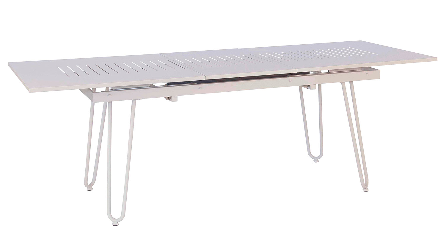 Mesa de comedor extensible jard n blanca no disponible en for Mesa comedor blanca extensible