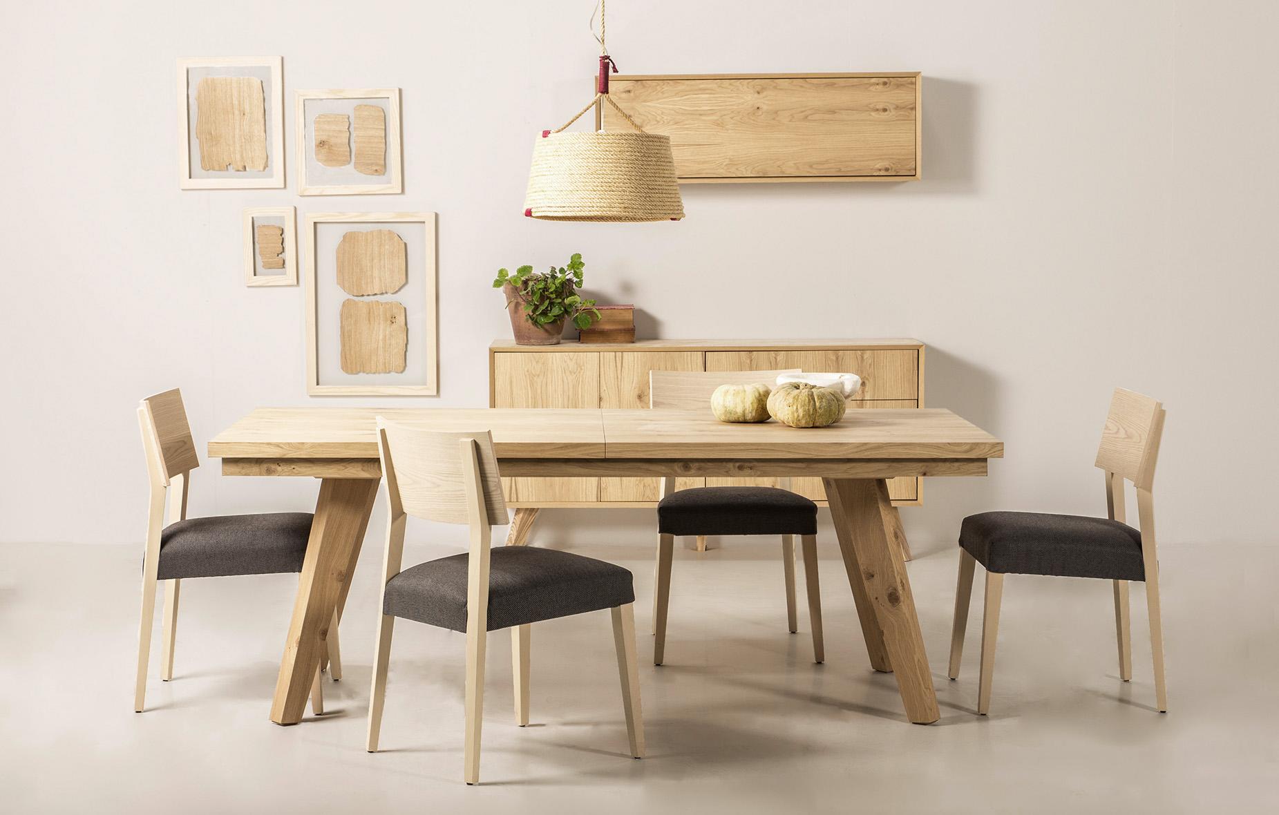 Mesa de comedor extensible retro fley de lujo en for Muebles comedor madera