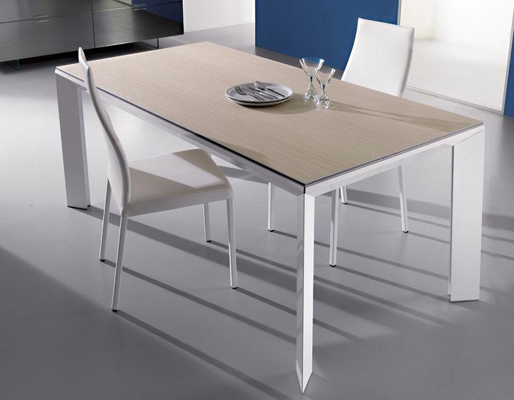 mesa de comedor extensible madera moderna metro en cosas On mesa extensible diseno