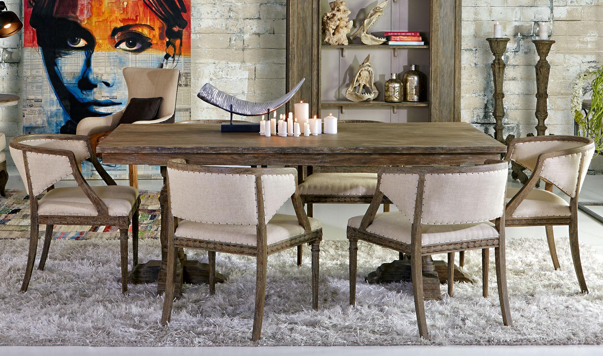Mesa comedor extensible vintage bellay en cosas de for Mesa comedor industrial extensible