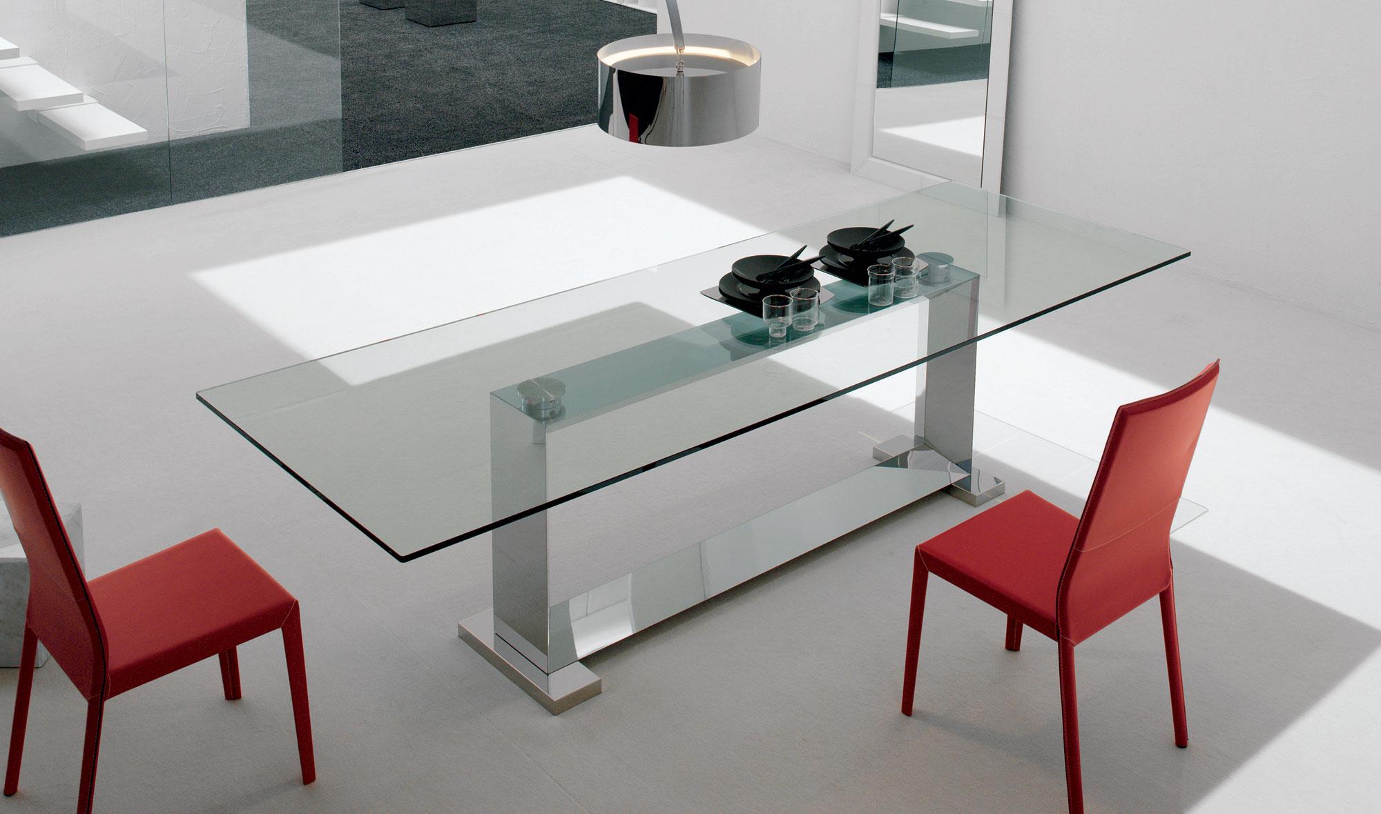 Mesa de comedor grande moderna monaco de lujo en for Mesas de comedor redondas modernas
